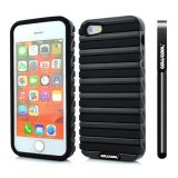 Apple Iphone 5 5S Case Hard Pc Stripe Ladder 2in1 Hybrid High Impact Protective Case For Iphone 5 5S(Black with Black)