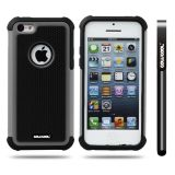 Apple Iphone 5C Case Silicone With Hard Pc Football Texture 2in1 Hybrid High Impact Protective Case For Apple Iphone 5C(Grey)