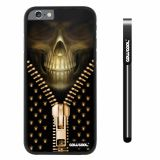 Apple iphone 6 4.7 inch Case Hard PC Skull Cool Zipper With Black Shell Single Layer Protective Case (3)