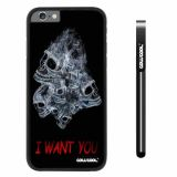 Apple iphone 6 4.7 inch Case Hard PC White Skull With Smoke I Want You Ghost With Black Shell Single Layer  Protective Case (8)
