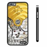 Apple iphone 6 4.7 inch Case Hard PC Golden Gear Black Shell Single Layer Protective Case (3)