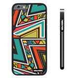 Apple iphone 6 4.7 inch Case Hard PC Colorful bohemian Triangle Totem Black Shell Single Layer Protective Case (5)