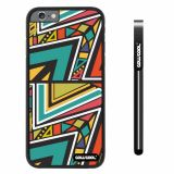Apple iphone 6 4.7 inch Case Hard PC Colorful Triangle Interlaced Totem Black Shell Single Layer Protective Case (8)