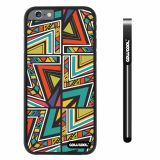 Apple iphone 6 4.7 inch Case Hard PC Colorful Interlaced Triangle Totem Black Shell Single Layer Protective Case (10)
