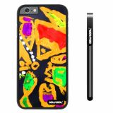 Apple iphone 6 4.7 inch Case Hard PC Colorful kid Watercolor Fish Competition food Black Shell Single Layer Protective Case (12)