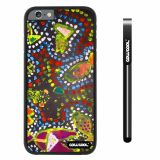 Apple iphone 6 4.7 inch Case Hard PC Colorful kid Watercolor Fish Competition food Black Shell Single Layer Protective Case (13)