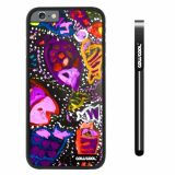 Apple iphone 6 4.7 inch Case Hard PC Colorful kid Watercolor Fish Competition food Black Shell Single Layer Protective Case (23)