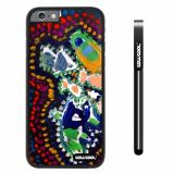 Apple iphone 6 4.7 inch Case Hard PC Colorful kid Watercolor Fish Competition food Black Shell Single Layer Protective Case (24)