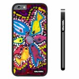 Apple iphone 6 4.7 inch Case Hard PC Colorful kid Watercolor Fish Competition food Black Shell Single Layer Protective Case (25)