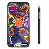 Apple iphone 6 4.7 inch Case Hard PC Colorful kid Watercolor Fish Competition food Black Shell Single Layer Protective Case (26)
