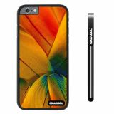 Apple iphone 6 4.7 inch Case Hard PC Colorful birds feathers Black Shell Single Layer Protective Case (2)