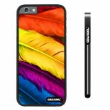 Apple iphone 6 4.7 inch Case Hard PC bright birds feathers Black Shell Single Layer Protective Case (4)