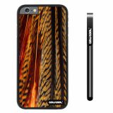 Apple iphone 6 4.7 inch Case Hard PC parrots feathers Black Shell Single Layer Protective Case (10)