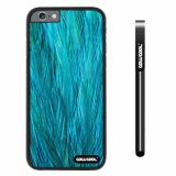 Apple iphone 6 4.7 inch Case Hard PC Fashion Design Blue feathers Black Shell Single Layer Protective Case (11)