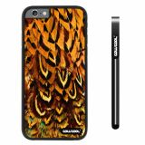 Apple iphone 6 4.7 inch Case Hard PC Colorful feathers Black Shell Single Layer Protective Case (12)