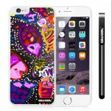 Apple Iphone 6 Plus 5.5 Inch Case Hard PC Colorful kid Watercolor Fish Competition food White Shell Single Layer Protective Case (23)