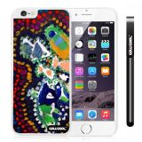 Apple Iphone 6 Plus 5.5 Inch Case Hard PC Colorful kid Watercolor Fish Competition food White Shell Single Layer Protective Case (24)