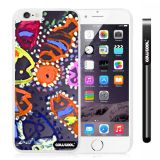Apple Iphone 6 Plus 5.5 Inch Case Hard PC Colorful kid Watercolor Fish Competition food White Shell Single Layer Protective Case (26)
