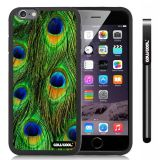 Apple iphone 6 4.7 Inch Soft Silicone Colorful peacocks feathers Black Shell Single Layer Protective Case (8)