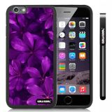 Apple iphone 6 4.7 Inch Soft Silicone Leaves and branches of bamboo Black Shell Single Layer Protective Case (Style8)