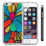 Apple iphone 6 4.7 Inch Soft Silicone Colorful Petal Plaid Totem Transparent Shell Single Layer Protective Case (13)