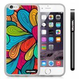 Apple iphone 6 4.7 Inch Soft Silicone tribal Petal Plaid Transparent Shell Single Layer Protective Case (14)