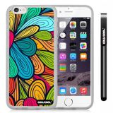 Apple iphone 6 4.7 Inch Soft Silicone Colorful Petal tribal Transparent Shell Single Layer Protective Case (15)