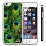 Apple iphone 6 4.7 Inch Soft Silicone Colorful peacocks feathers Transparent Shell Single Layer Protective Case (8)