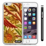 Apple iphone 6 4.7 inch Case Hard Golden Flower Transparent Shell Single Layer Protective Case (Style2)