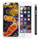 Apple iphone 6 4.7 Inch Soft Silicone Colorful kid Watercolor Fish Competition food White Shell Single Layer Protective Case (19)
