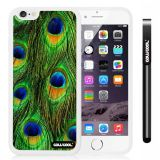 Apple iphone 6 4.7 Inch Soft Silicone Colorful peacocks feathers White Shell Single Layer Protective Case (8)