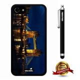 iphone 8 Case, iphone 7 Case, London Case, Cowcool Ultra Thin Soft Silicone Case for Apple iphone 7 - Night View London Bridge