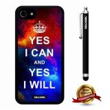 iphone 8 Case, iphone 7 Case, Maxim Case, Cowcool Ultra Thin Soft Silicone Case for Apple iphone 7 - Starry Yes I Can Yes I Will