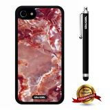 iphone 8 Case, iphone 7 Case, Marble Pattern Case, Cowcool Ultra Thin Soft Silicone Case for Apple iphone 7 - Red Fire Clouds Marble Texture