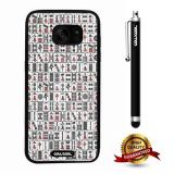Galaxy S7 edge Case, Character Case, Cowcool Ultra Thin Soft Silicone Case for Samsung Galaxy S7 edge - Chinese Mahjong Camo
