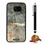 Galaxy S7 edge Case, Marble Pattern Case, Cowcool Ultra Thin Soft Silicone Case for Samsung Galaxy S7 edge - Oblique Section Marble Texture