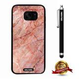 Galaxy S7 edge Case, Marble Pattern Case, Cowcool Ultra Thin Soft Silicone Case for Samsung Galaxy S7 edge - Red Oblique Crack Marble Texture