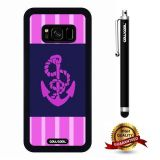 Galaxy S8 Case, Anchor Case, Cowcool Ultra Thin Soft Silicone Case for Samsung Galaxy S8 - Pink Spacing Equidistant Anchor