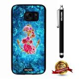 Galaxy S7 Case, Anchor Case, Cowcool Ultra Thin Soft Silicone Case for Samsung Galaxy S7 - Blue Rose Anchor
