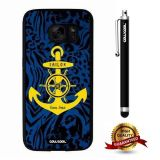 Galaxy S7 Case, Anchor Case, Cowcool Ultra Thin Soft Silicone Case for Samsung Galaxy S7 - Blue Leopard Yellow Anchor