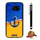 Galaxy S7 Case, Anchor Case, Cowcool Ultra Thin Soft Silicone Case for Samsung Galaxy S7 - Beach Blue Navy Anchor