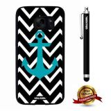 Galaxy S7 Case, Anchor Case, Cowcool Ultra Thin Soft Silicone Case for Samsung Galaxy S7 - Black Chevron Patterns Anchor