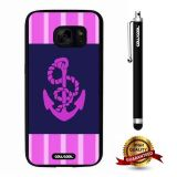 Galaxy S7 Case, Anchor Case, Cowcool Ultra Thin Soft Silicone Case for Samsung Galaxy S7 - Pink Spacing Equidistant Anchor
