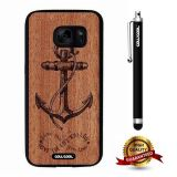 Galaxy S7 Case, Anchor Case, Cowcool Ultra Thin Soft Silicone Case for Samsung Galaxy S7 - Wood Anchor Love The Life You Live