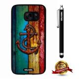 Galaxy S7 Case, Anchor Case, Cowcool Ultra Thin Soft Silicone Case for Samsung Galaxy S7 - Colorful Wooden Strip Rust Anchor
