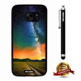 Galaxy S7 Case, Galaxy Case, Cowcool Ultra Thin Soft Silicone Case for Samsung Galaxy S7 - Colorful Wooden Strip Rust Anchor