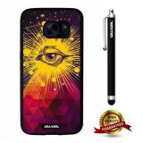 Galaxy S7 Case, All Eyes Case, Cowcool Ultra Thin Soft Silicone Case for Samsung Galaxy S7 - Pyramid All Eye