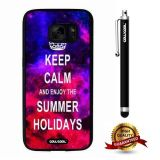 Galaxy S7 Case, Maxim Case, Cowcool Ultra Thin Soft Silicone Case for Samsung Galaxy S7 - Starry Keep Calm Enjoy The Summer Holiday