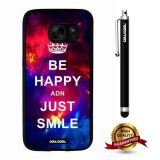 Galaxy S7 Case, Maxim Case, Cowcool Ultra Thin Soft Silicone Case for Samsung Galaxy S7 - Starry Be Happy Just Smile