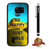 Galaxy S7 Case, Maxim Case, Cowcool Ultra Thin Soft Silicone Case for Samsung Galaxy S7 - Be Happy Just Smile Face